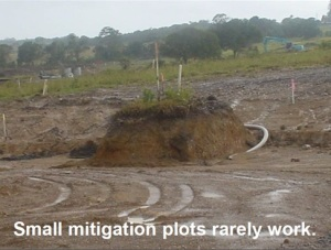 Small mitigation plots rarely work
